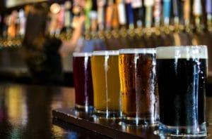 Enjoying beer at Beer'd Brewing Company