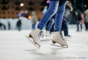 Girl Ice skating in CT